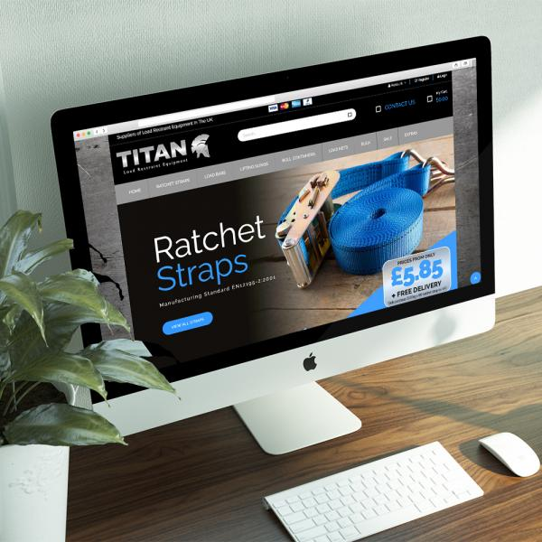 Titan Load Restraints website design desktop