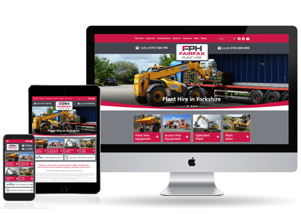 Fairfax plant hire website design