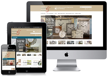 ecommerce responsive website design for accessories company in york