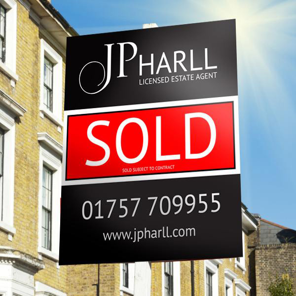 selby estate agent sign graphic design