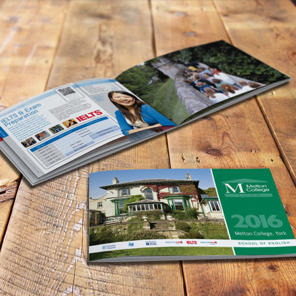 prospectus graphic design for melton college york
