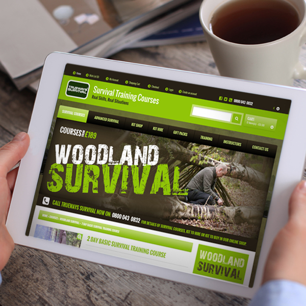 online ecommerce website design for survival company