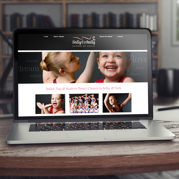 website design yorkshire, for ballet school in selby